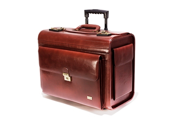 Leather Trolley Pilot Case - CODE 132-0309