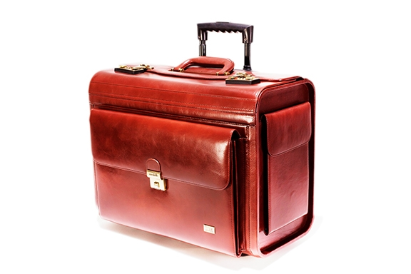 Leather Trolley Pilot Case - CODE 132-0310