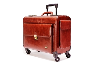 Leather Trolley Pilot Case(4W) - CODE 132-0319