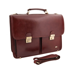 LEATHER BRIEF CASE 133-0424