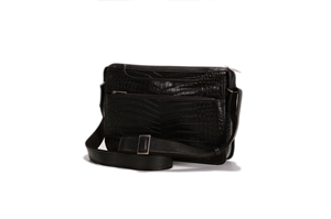 Croco Print Leather Shoulder Bag -139-1076