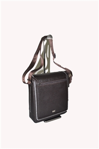 LEATHER SHOULDER BAG- 139-3916