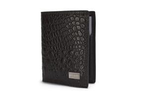 Croco Print Leather Wallet - 142-1863N