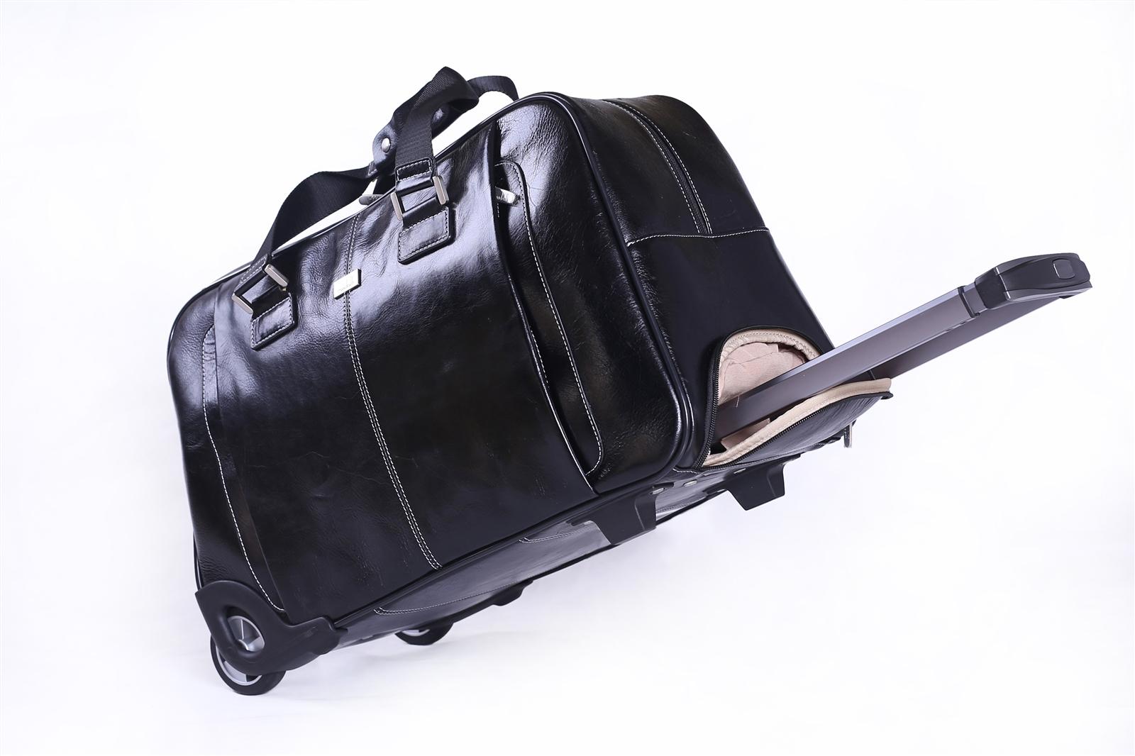 Leather Trolley Case/ 2Wheels - CODE 146-1747