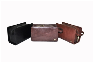 Leather Toilette Bag 140-1104