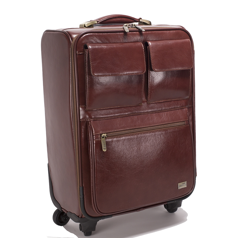 Leather Trolley Case/4Wheels - CODE 146-1718