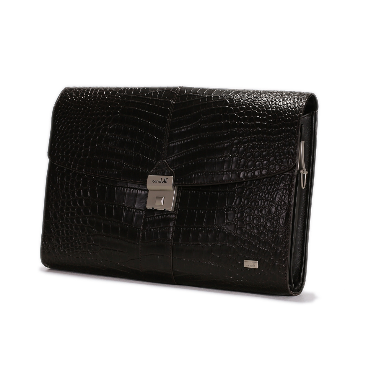 Croco Print Leather Portfolio - CODE 134-0529