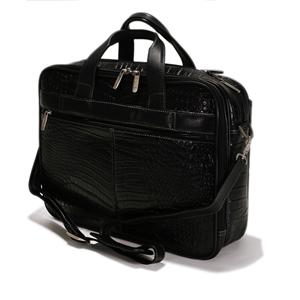 Croco Print Leather Brief Case - CODE 143-1419