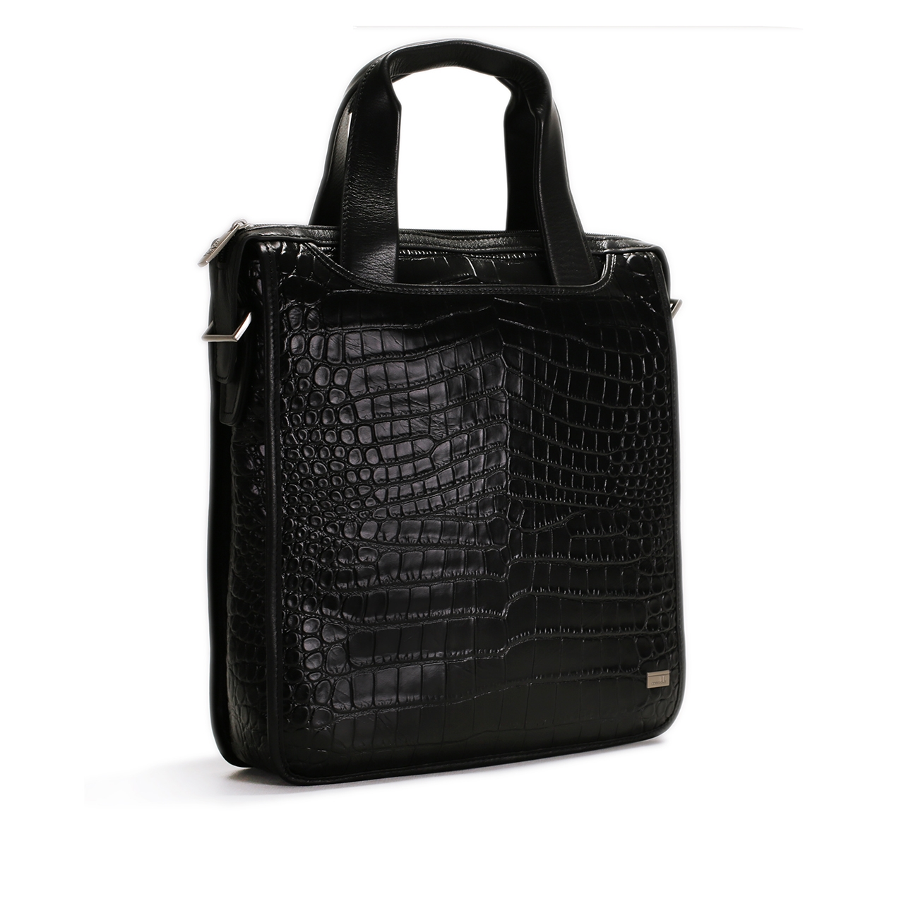 Croco Print Leather Brief Case - CODE 133-0497