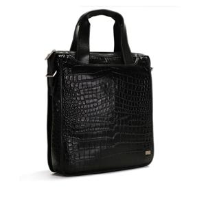 Croco Print Leather Brief Case - CODE 133-0497