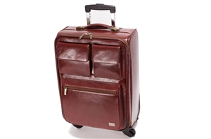 LEATHER TROLLEY CASE/4WHEELS - CODE 146-1718/4